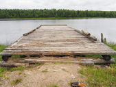 Pier on the river — Foto de Stock