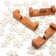 Wooden puzzle — Stock Photo #32234683