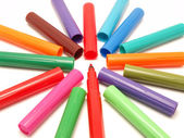 Multicolored Felt Pens — Stock Photo