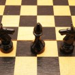 Chess on a chess board — Stock Photo