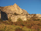 Montañas al atardecer — Foto de Stock