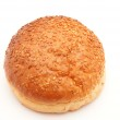 Bun with sesame seeds on a white background — Stock Photo