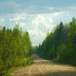 Stock Photo: Route with sky and trees