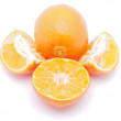 Stockfoto: Tangerine on white background