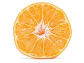 Tangerine on white background — Stock Photo