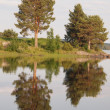 Beautiful lake in Karelia — Stock Photo #40552555
