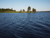 Beautiful lake in Karelia — Stock Photo