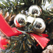 Christmas decorations on a white background — Stock Photo