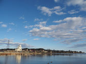 Lakeside city — Stockfoto