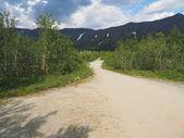 在山的路 — 图库照片