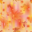 Autumn leaves seamless pattern. Vector illustration — Stock Vector