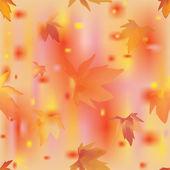 осенние листья бесшовный фон. векторные иллюстрации. — Cтоковый вектор