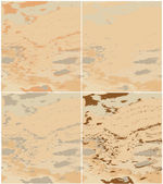 Set of grunge stained seamless backgrounds. Beige, grey, brown,rusty colors. — Stock Vector