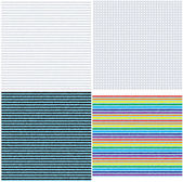 Set of seamless striped and checkered gingham textures. — Stock Vector