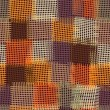 Grunge checkered and striped seamless colorful quilt pattern - Stock vektor