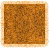 Woollen blanket with fringe in orange and brown colors — Stock Vector