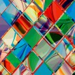 Royalty-Free Stock Imagen vectorial: Grunge checkered colorful geometrical composition