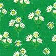 Royalty-Free Stock Векторное изображение: Seamless pattern with green grass field and camomiles