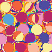 Seamless pattern with grunge circles in yellow,orange,violet colors — Stock Vector