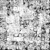 グランジ ストライプし、黒と白の抽象的な背景を渦巻いた — ストックベクタ
