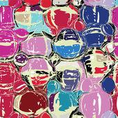 Grunge omcirkeld en gekleurd kleurrijke naadloze patroon — Stockvector