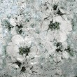 Grunge stained sketching floral background in white,grey,black colors — Stock Photo #32264651