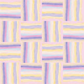 Checkered grunge striped colorful watercolor seamless pattern — Stock vektor