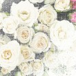Floral grunge striped and stained vintage background with roses — Stock Photo #44283731