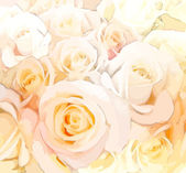 Floral background with stylized roses in pastel colors — Stock Vector