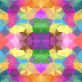 Grunge stained uneven colorful kaleidoscopic seamless pattern — Stock vektor