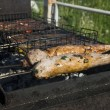 Stock Photo: Pork loin on grill.