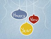 Card with Christmas balls — Stock Vector