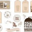 Coffee design elements — Stock Vector