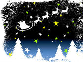 Winter scene - christmas card — Stockvektor