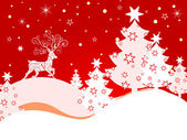 Vinter scen - julkort — Stockvektor