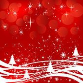 Zimní scéna - vánoční přání — Stock vektor