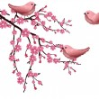 Stock Vector: Cherry blossom