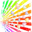 Rainbow rays - Stock Vector