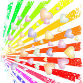 Rainbow rays — Stock Vector