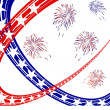 4th july independence day — Vector de stock