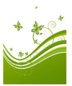 летние бабочки — Cтоковый вектор