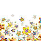 Summer flowers — Stock Vector
