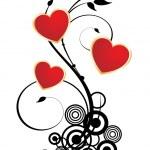 ロマンチックなバレンタインの心 — ストックベクタ #2916449