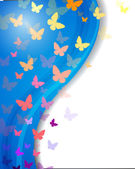 カラフルな蝶 — ストックベクタ