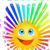 Funny sunshine — Stock Vector