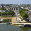Stock Photo: Port on Maine river at Angers in France