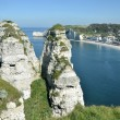 Famous cliffs of Etretat in France - Foto de Stock  