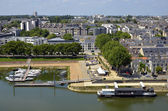 Port on the Maine river at Angers in France — Stock Photo