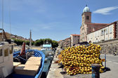 Port and church of Port-Vendres in France — Stock Photo