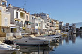 Boats at Empuriabravia in Spain — Stock Photo